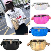 50pcs Laser Fanny Pack Hologram PU Metallic Waterproof Beach...