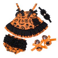 Baby Girls Halloween Clothing Sets 4- pcs Suit Dress Shorts H...