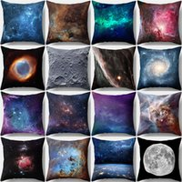 Starry Sky Space Pattern Peach Skin Pillow Cover Home Decor ...