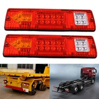 1 Pair 19LED 12V 24V Red Yellow White Plastic Truck Trailer ...