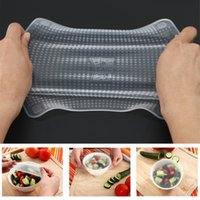 New 4pcs Multifunctional Food Fresh Keeping Saran Wrap Kitch...