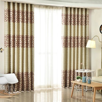 Modern Thick Suede Geometric Curtains for Living Room Bedroo...