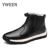 YWEEN Big Size 39- 48 Winter Mens Boots Men Casual Snow Men A...