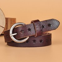 Ladies' Leather Belts Korean Style Retro Hollowed Out D...