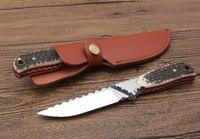 venta caliente HARNDS supervivencia cuchillo de camping ultrasport caza knifesteel + astas manejar 9CR18Mov calidad OEM precio al por mayor herramientas al aire libre EDC