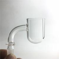 25mmのxlの丸い底の四つの石英ドームレスのバンガーの釘を吸っている3mmの厚さのXL Quartzのバンジセットヘッドネイルガラス水の喫煙のためのドームのないバンジャーの釘