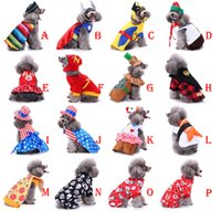 크리스마스 파티 강아지 옷 코스프레 강아지 복장 애완 동물 자켓 코트 겨울 의류 작은 강아지를위한 소프트 스웨터 의류 DHL