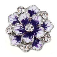10pcs / lot 2018 New Snap Bijoux Fleur Vintage Métal 18mm Snap Boutons pour 18MM Bracelet pour les femmes