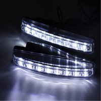2 Pz / lotto Car Styling Automobiles 8LED Daytime Running Light Auto DRL The Fog Driving Daylight Lampade a LED per luci di navigazione automatiche