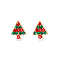 New Christmas Jewelry Colorful Rhinestone Cartoon Christmas ...