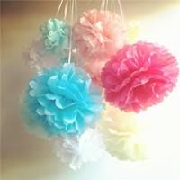 Mixte 3 tailles 5 8 10 papier de soie pom poms boules de fleurs mariage pom bébé douche chambre d'enfant décoration de noël 30 pcs / lot