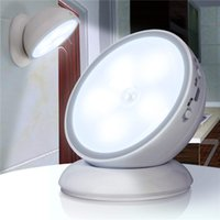 LED Night Light USB Rechargeable Magnetic 360 Degree Rotate ...