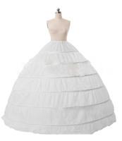 6 Hoop vestido de baile Petticoat para vestido de noiva / noite / Prom / Quinceanera vestidos Underskirt princesa Crinolina jupon enfant