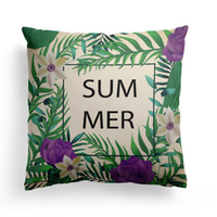 2018 yeni tropikal bitki yaprak baskılı araba yastık örtüsü kanepe kanepe yastık kapak ev mobilya dekoratif dimi yastık 45 * 45 cm # H1