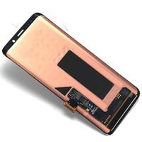Orijinal amoled samsung galaxy s9 s9 için değiştirme + çerçeve ile lcd dokunmatik ekran digitizer g960 g965 ekran