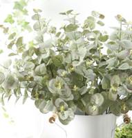 5 Pcs Artificielle soie Australie Eucalyptus branches d'arbres tombent à la maison décoration de mariage faux Fleurs arrangement plantes feuille guirlande