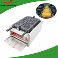 Machine de fabricant de gaufres en forme de porée commerciale en forme de poo Populaire dessin animé Taiyaki Gaufre en gaufre de machine à collations électriques