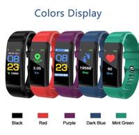 LCD 화면 ID115 플러스 스마트 팔찌 피트니스 트래커 보수계 시계 밴드 심박수 혈압 모니터 ID 115 플러스 스마트 팔찌