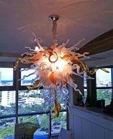 Heißer verkauf reine weiße farbe mundgeblasenem glas kristall kronleuchter elegante beste dekor hause lampen chihuly stil kronleuchter beleuchtung