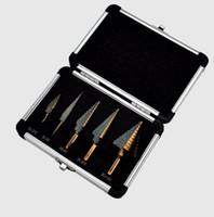 5 stücke schrittkegel bohrer set bohrer für metall werkzeugkasten Lochschneider kegel HSS hochgeschwindigkeitsstahl mehrere ferramentas