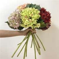 Artificial Silk Flower Fake Flowers Silk Hydrangea Colorful ...