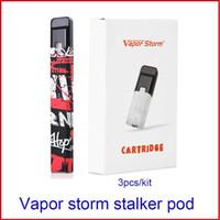 Аутентичные Vapor Storm Замена Стручка Стручка Картриджа с 1,8 мл емкостью 1,8 Ом для Vapor Storm Stalker Pod Стартовый Комплект 3шт / шт.