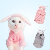 Rabbit Ears Warm Pet Dog Clothes Autumn Cosplay For Small Do...