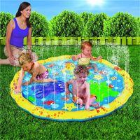 Anneau de l'eau des enfants de garniture de pulvérisation de piscine gonflable de PVC de plein air avec le trou joue le gicleur de camping de jouet simple instantané 38fy dd