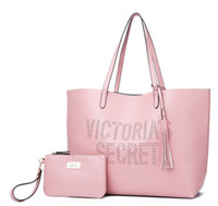 NEW WOMEN VS STRIPED BEACH BAG FASHION FEMININ PINK SHOULDER...