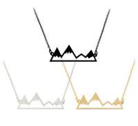 Полые горы ожерелье пик кулон с серебряной золотой цепи ювелирные изделия для женщин мужчин подарок груза падения MOQ 60 шт.