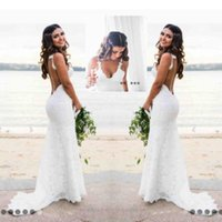 Sexy Lace Wedding Dresses Country Style Count Train Deep V N...