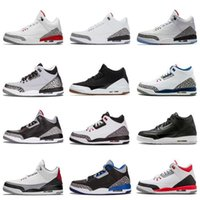 New Arrival Jumpman 3 III Black White Fashion Casual Basketb...