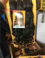 Yüksek kaliteli sentetik örgü saç örgü demetleri 200 g 20inch Brezilya saç sentetik örgü İtalyan kıvırcık kütikül hizalanmış saç demetleri