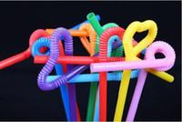 100 قطع بلاستيكية مرنة bendy مختلط الألوان حزب المتاح القش الشرب الاطفال عيد إمدادات الحدث الزفاف الديكور
