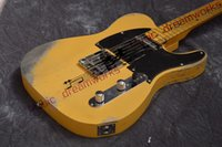 China firehawk electric guitar TL Classic yellow color handm...