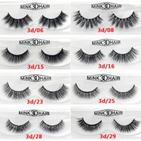 100% 3D Mink eyelash Full Strip False Eyelash Long Individua...