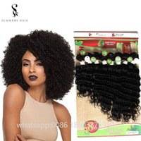 Brazilian Wave Human Virging Hair Wefts Afro Kinky Curl Loos...