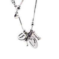 عيد الحب أنا أحبك قلادة الاسترليني والفضة والمجوهرات قلادة قلادة للمرأة صنع المجوهرات الأوروبية