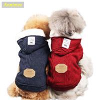 Lo nuevo de Hotsale caliente para mascotas perros con capucha ropa de invierno suéter capa de la chaqueta para Puppy ropa de lana -35
