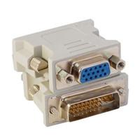 DVI 24 + 1 24 + 5 VGA adaptörü çift monitör konnektörüne VGA DVI Dönüştürücü Adaptör adaptörü konnektörü