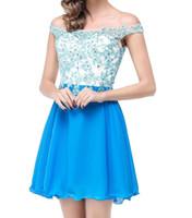 Дешевле Дешевые Пром Короткие платья Homecoming платья партии аппликациями Modest Выпускные платья DH1467
