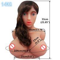 Büyük meme oral Seks Bebek kafası torso japon gerçekçi silikon seks bebekleri robot adam için büyük göğüsler mastutbator gerçek yetişkin seksi bebek dükkanı