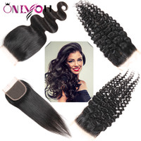 Brazilian Hair Extensions 4x4 Middle Part and Free Part Top ...