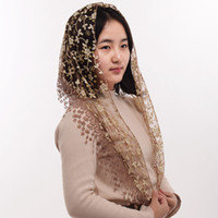 1pc Women Soft Lace Chapel Veil Triangle Pattern Veil Classi...