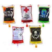 Wiederverwendbare Blood Energy Drink Tasche Halloween Party Beutel Requisiten Vampire Klar PVC Lebensmittel Saft Verpackung Taschen 250 ml
