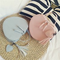 Kids Handbag Newest Korean Fashion Heart Shape Cross- body Ba...
