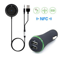 Bluetooth 4. 0 Car kit with NFC Function + 3. 5mm AUX Receiver ...