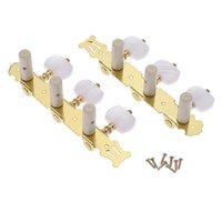 1Pcs (Sinistra + destra) Tasto di sintonizzazione per chitarra classica Gold / Black Plated Peg Tuner Machine Head (long) String Tuner