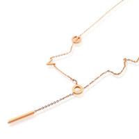 3 개의 비 페이드 티타늄 강철 도금 18K 도금 된 금 사랑 편지 쇄골 아름다움 펜던트 목걸이 보석 도매