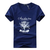 2018 Marke neue Männer T-Shirt Marke gedruckt T-Shirt beiläufige lose passende Kurzhülse O-Ansatz übersteigt T-Stücke männliches T-Shirt Wunsch-Ideen-Baum-Qualität
